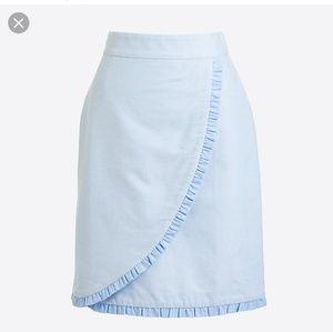 J. Crew | Oxford Ruffle Pencil Skirt